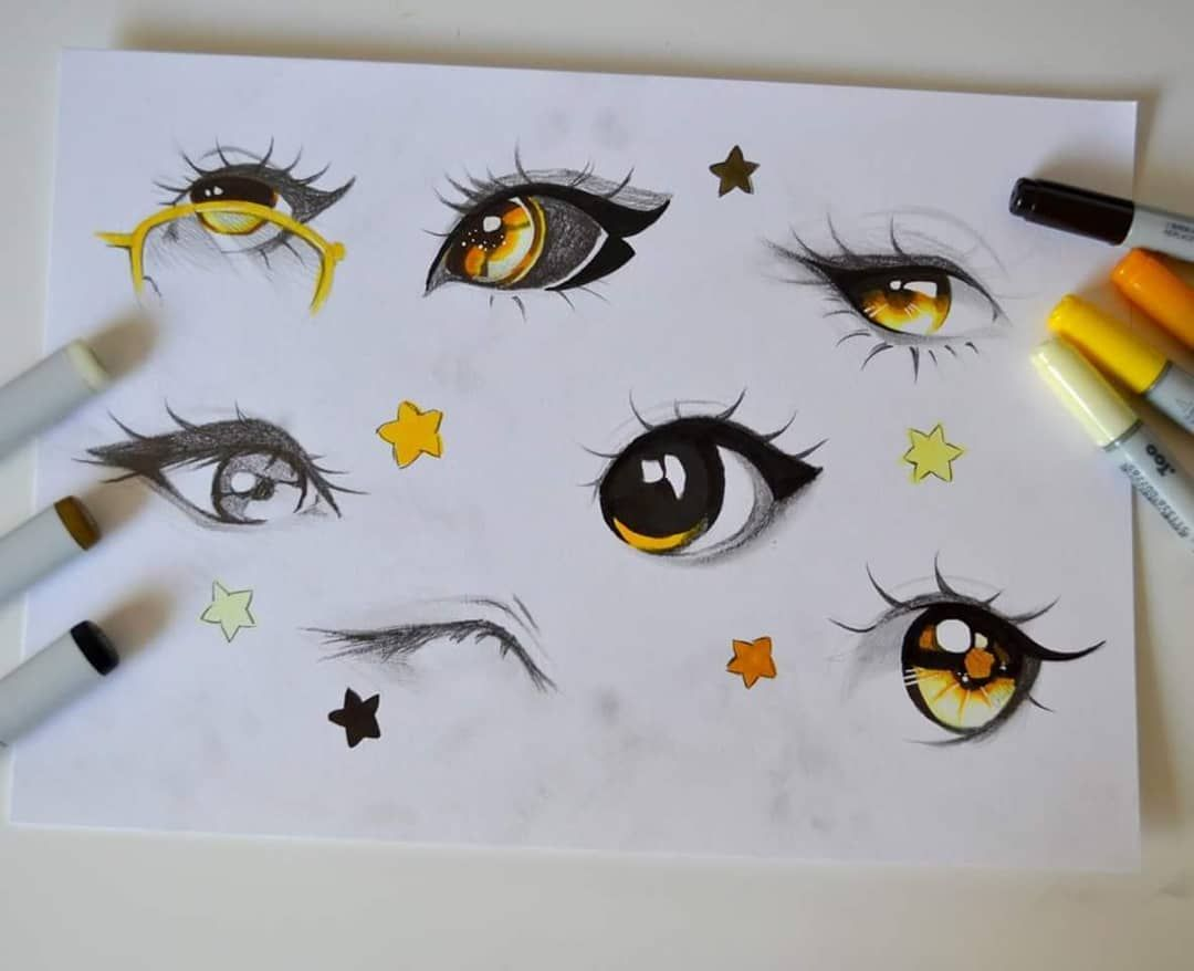It is a photo of Astounding Starry Eyes Drawing
