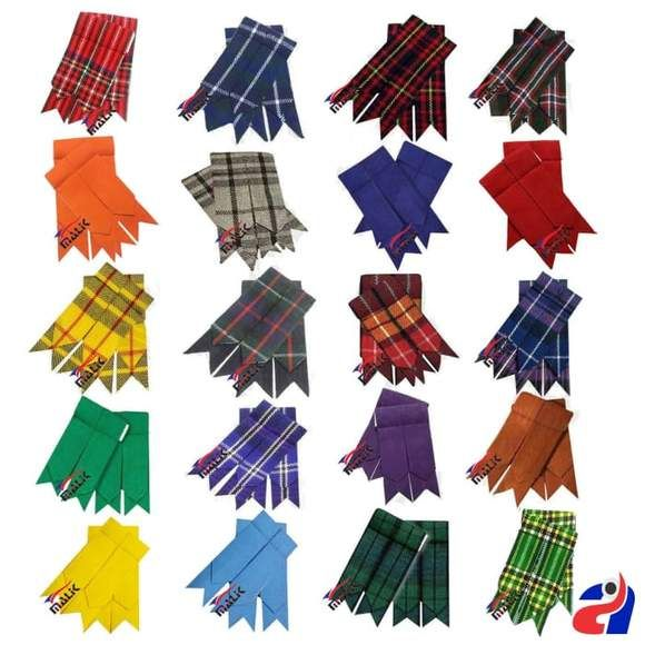 KILT HOSE SOCK FLASHES HUNTING MACLEAN TARTAN POINTED MADE IN SCOTLAND FOR KILTS
