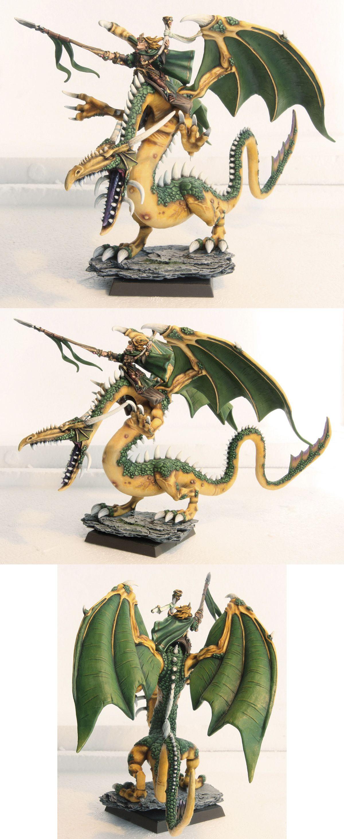 CoolMiniOrNot - Dragon Silvano | Warhammer wood elves