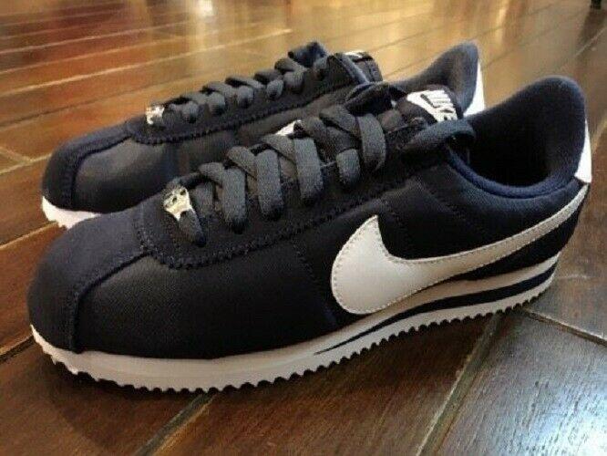 Men Shoe Cortez Basic Size 12 Black//Silver//White Leather 819719-012 Medium New