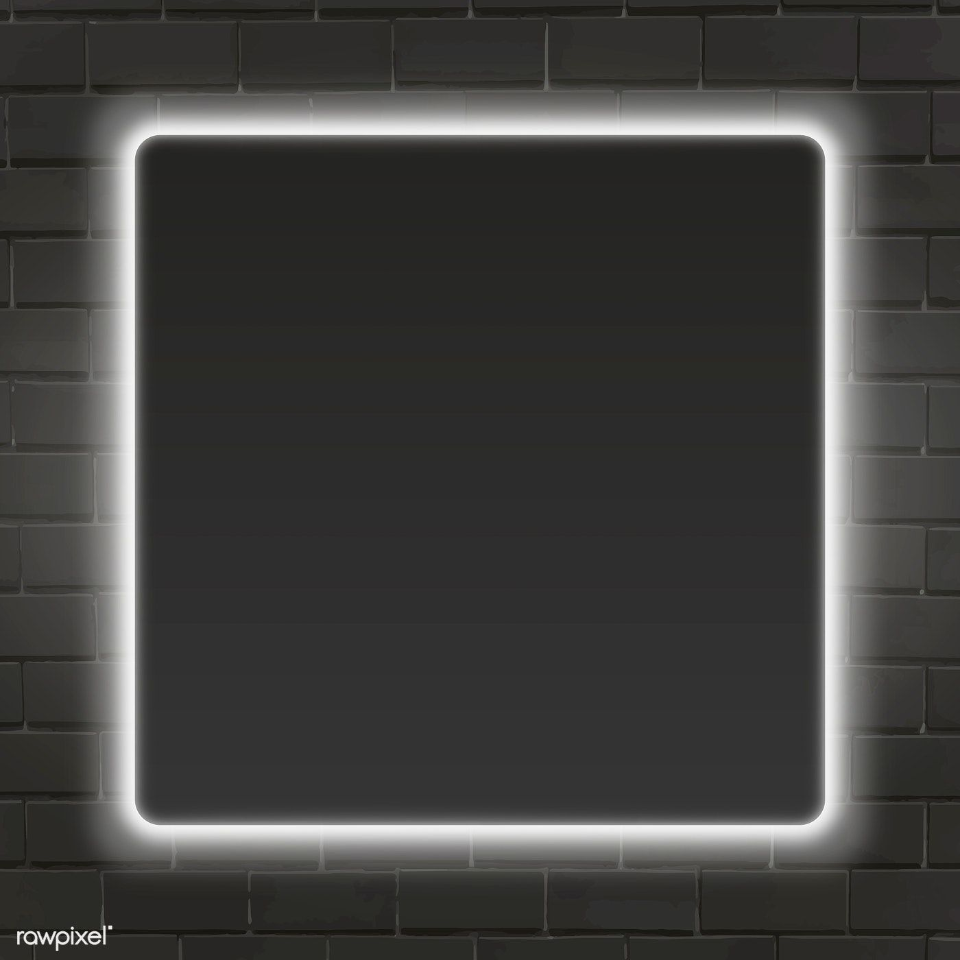 Square White Neon Light Frame Template Vector Premium Image By Rawpixel Com Aew Frame Template Neon Lighting Neon Wallpaper