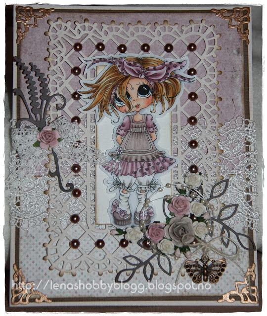 card by Lena... using a Sherri Baldy Big-Eyed Bestie