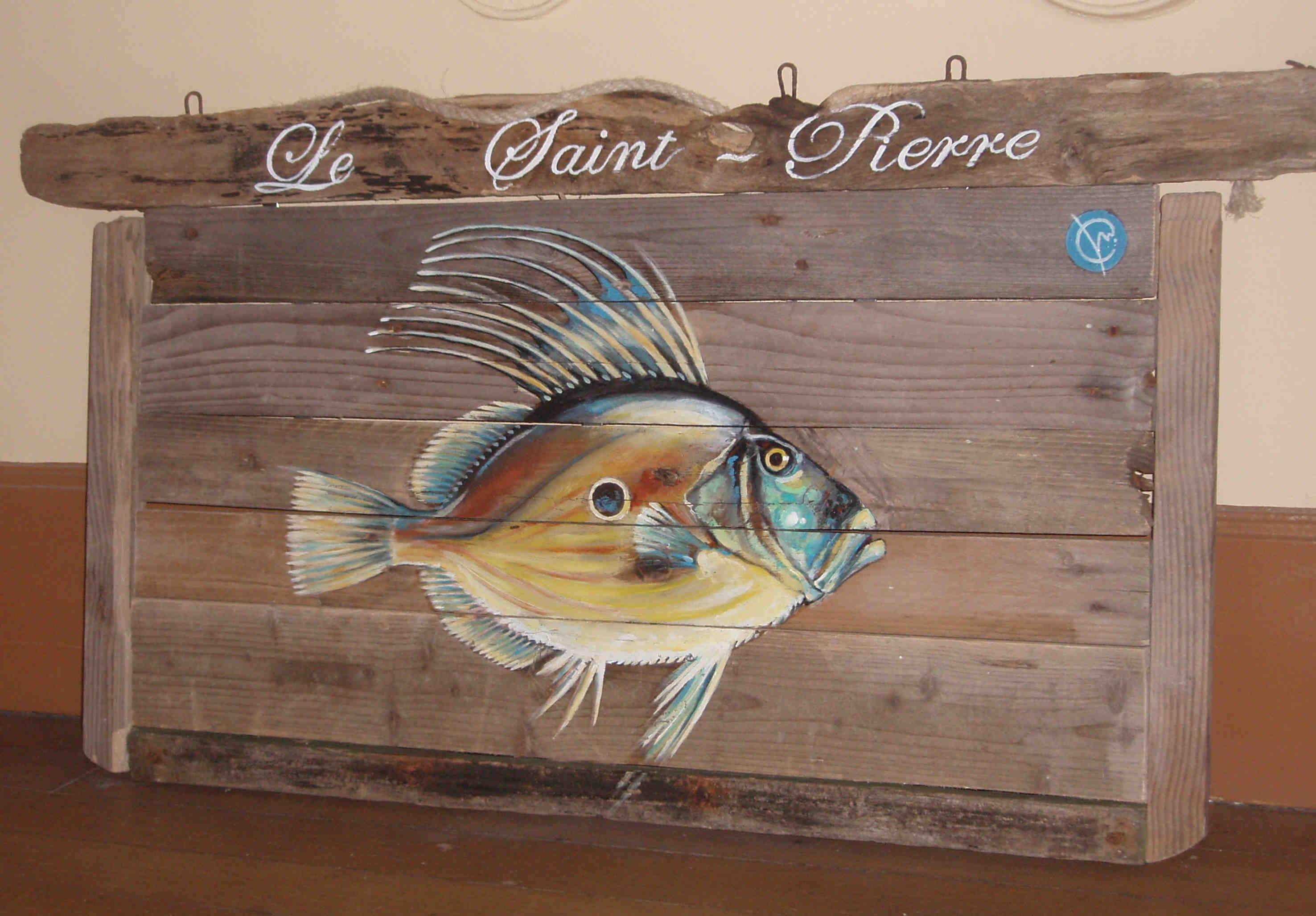 saint-pierre-bois-flotté-acrylique-poisson.jpg (2952×2055) | Mon ...