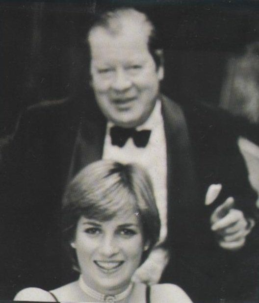 Diana Spencer with her father Edward