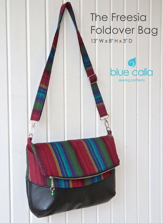 The Freesia Foldover Bag - PDF Sewing Pattern | Bolsos, Costura y ...
