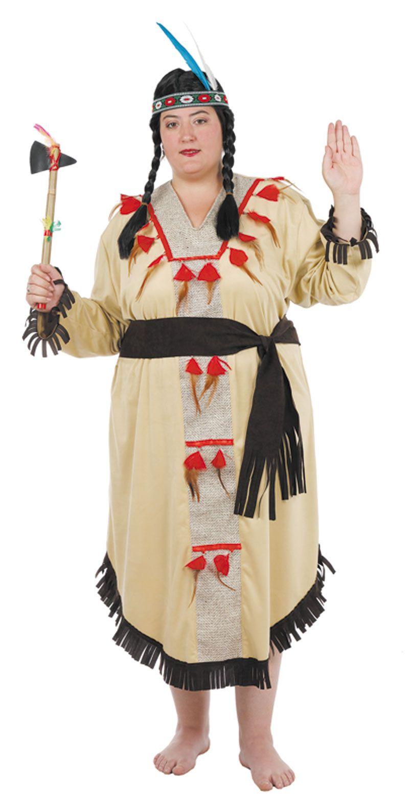 Disfraz de india disfraces para tallas grandes - Disfraces caseros adulto ...