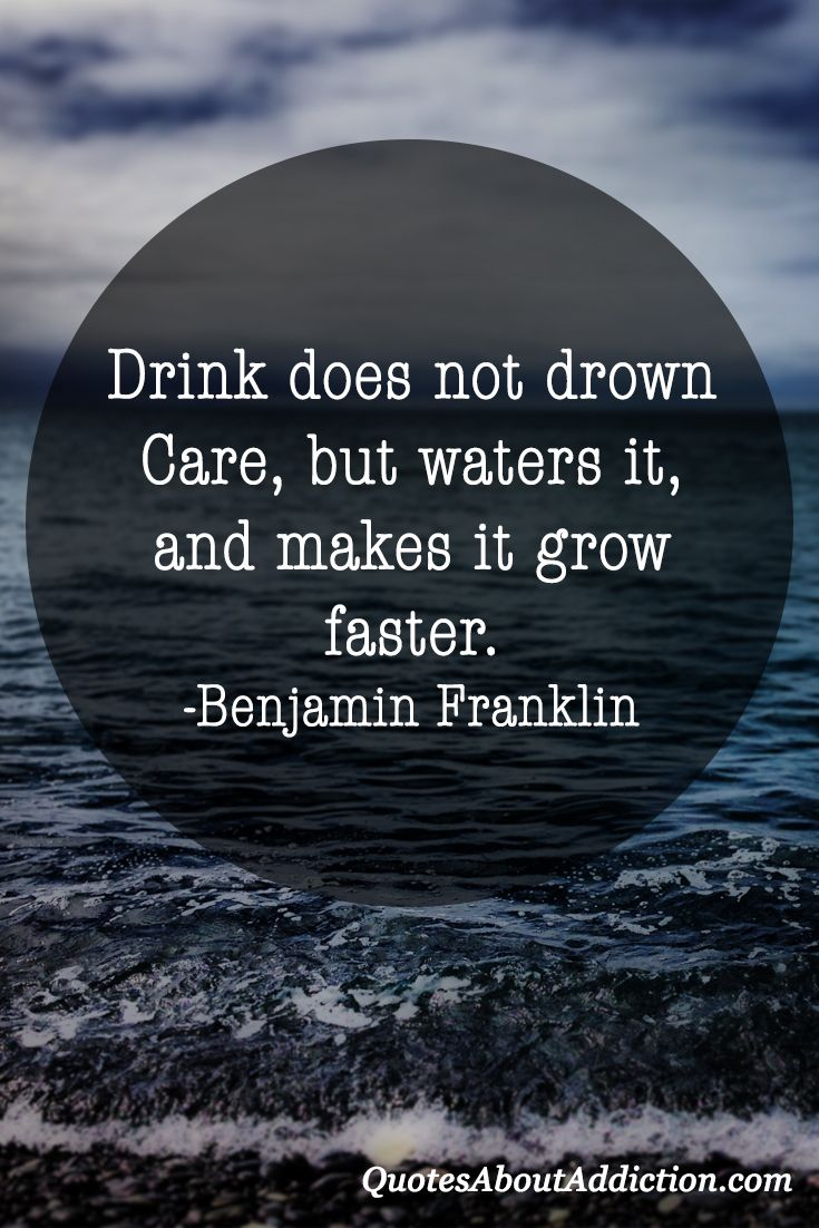 Quotes About Addiction Alcoholism Quote From Benjamin Franklin Addiction Quotes