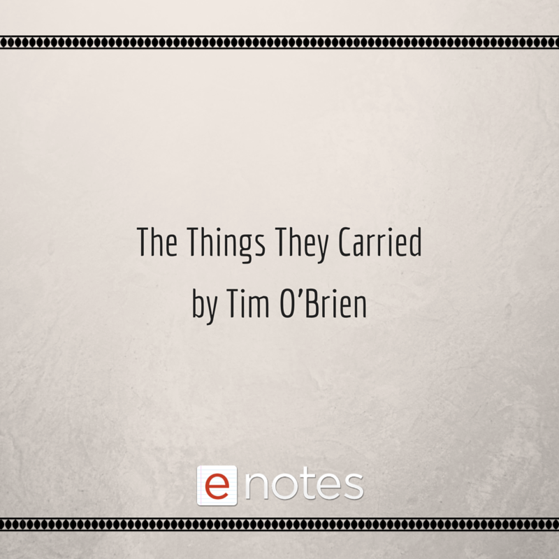 The Thing They Carried By Tim O Brien Study Guide Chapter Summarie Book Synopsi Character List Quot Summary Everyday Use Alice Walker Essay