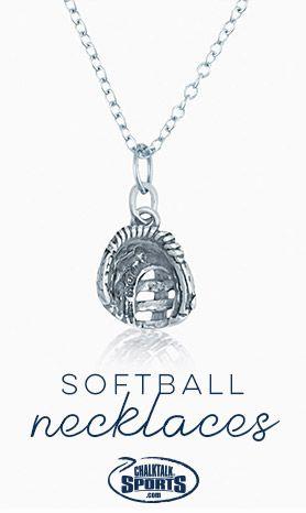 Baseball Softball Pendant Silver Baseball Necklace Softball Player Gift Softball Charm Softball Necklace Baseball Charm Baseball Gift