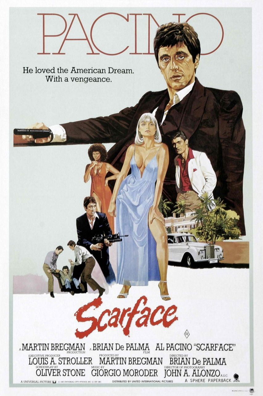 Al Pacino Scarface Scarface Movie Movie Posters Vintage Scarface Poster