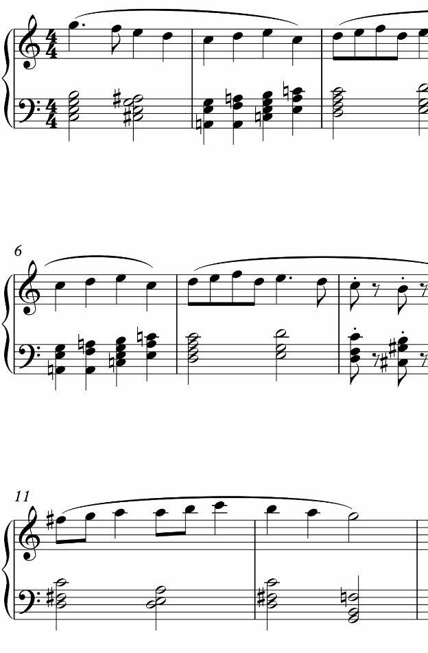 10 famous christmas carols in jazz piano style piano sheet music medium advanced level