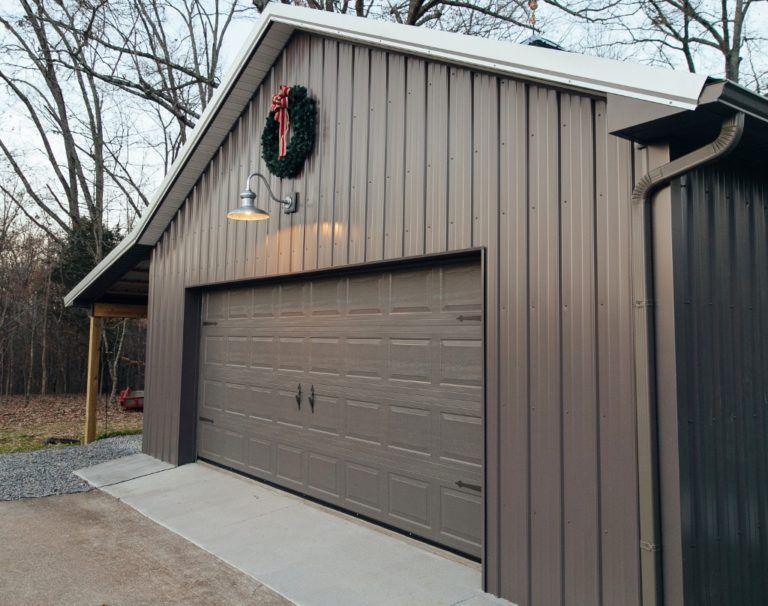 Gooseneck Barn Light Adds Style To Industrial Pole Barn Inspiration Barn Lighting Garage Lighting Barn Light Electric