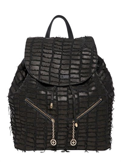 b44a28673a DESMO - CARRIE CROC EFFECT LEATHER BACKPACK - LUISAVIAROMA - LUXURY  SHOPPING WORLDWIDE SHIPPING - FLORENCE