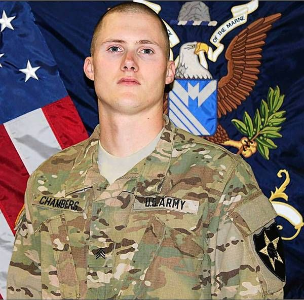 Sgt. David J. Chambers - Hampton, Va., KIA Jan. 16, 2013 in Panjwai District, Kandahar Province, Afghanistan, of wounds suffered when he encountered an enemy improvised explosive device while on dismounted patrol. Age 25. He was assigned to the 1st Battalion, 38th Infantry Regiment, 4th Stryker Brigade Combat Team, 2nd Infantry Division, under control of the 7th Infantry Division, Joint Base Lewis-McChord, Wash.