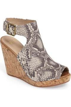 Alternate Image 1 Selected - Johnston & Murphy Mila Slingback Platform Wedge Sandal (Women)