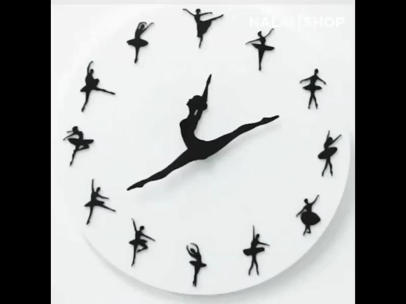 Ballerina Wall Clock Video Ballet Clock Diy Clock