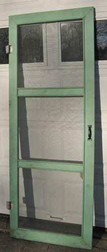 Vintage 3 Panel Wooden Screen Door Architectural Wooden Screen Door Vintage Screen Doors Screen Door