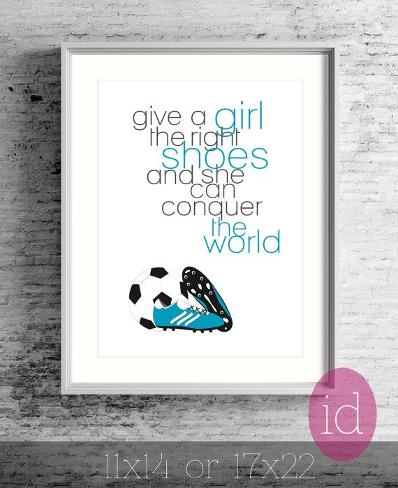 Soccer Poster Girl\'s Room-Unique Gift For Girl Give by inkanddolly ...