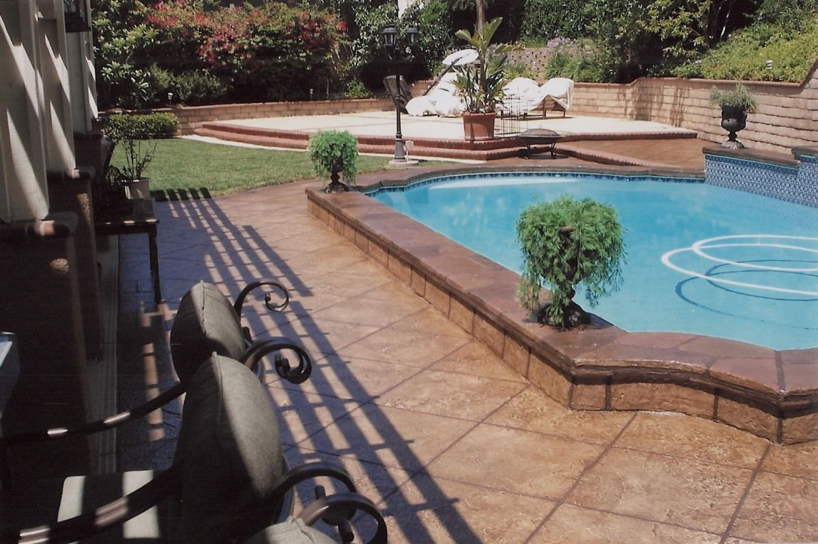 stamped and stained concrete | stamped concrete highland park, tx
