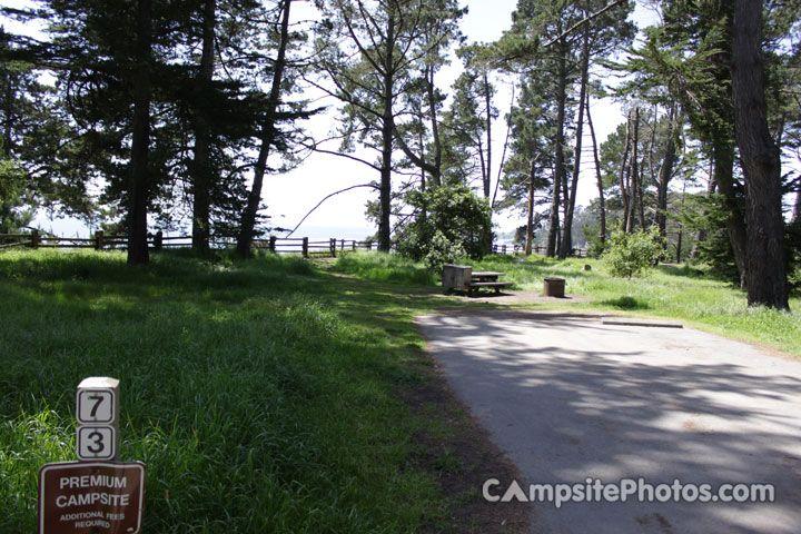 New Brighton State Beach Campsite