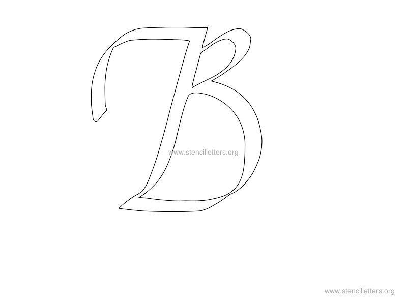 cursive wall stencil letter b fonts and printables pinterest