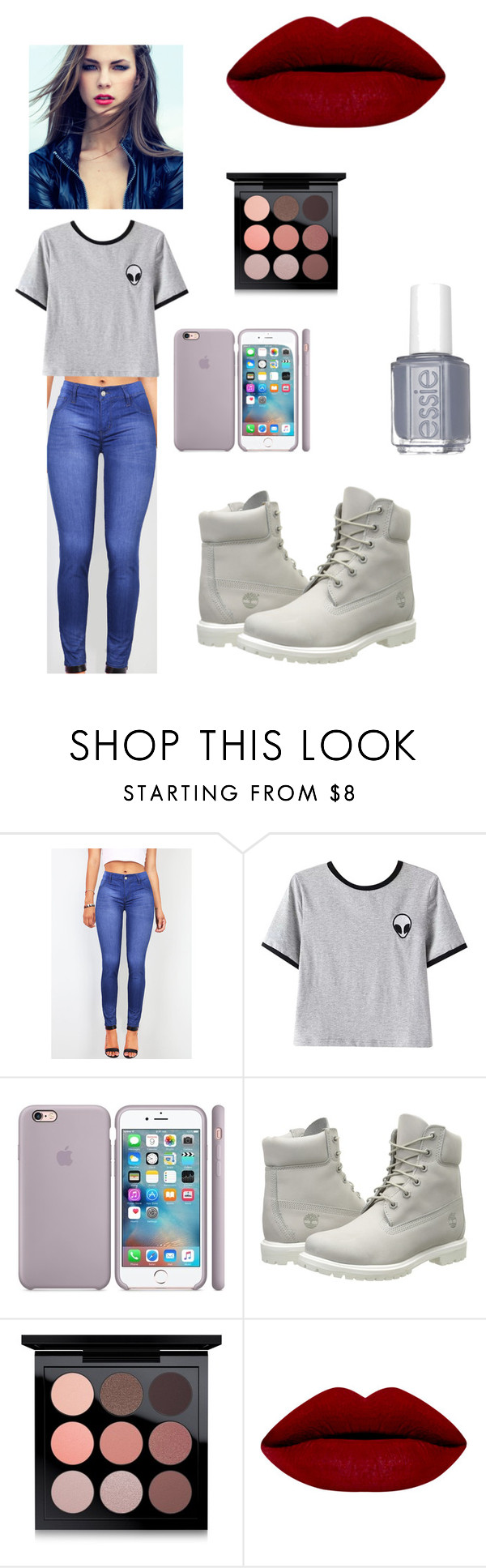 """School Inspired"" by emmasartorius on Polyvore featuring Chicnova Fashion, Timberland, MAC Cosmetics and Essie"