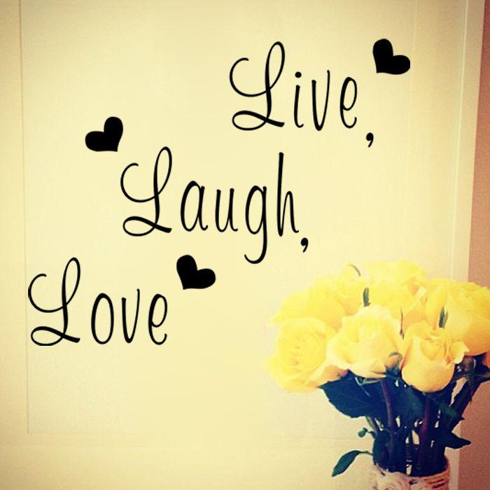 Live laugh love inspirado de la cita de pared de vinilo pegatinas ...