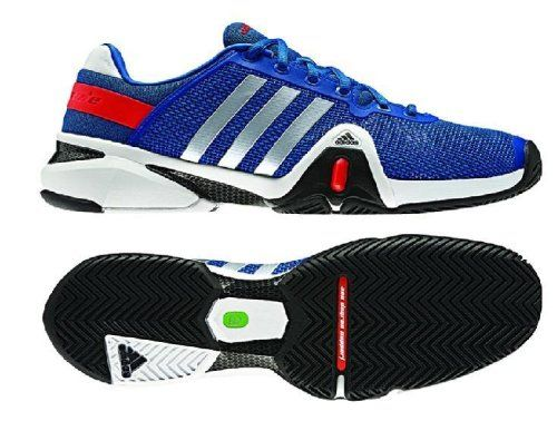 adidas men's adipower barricade 8 tennis shoes blue beauty hi res red