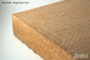 altrucedar rough sawn face FSC Certified Cedar Siding