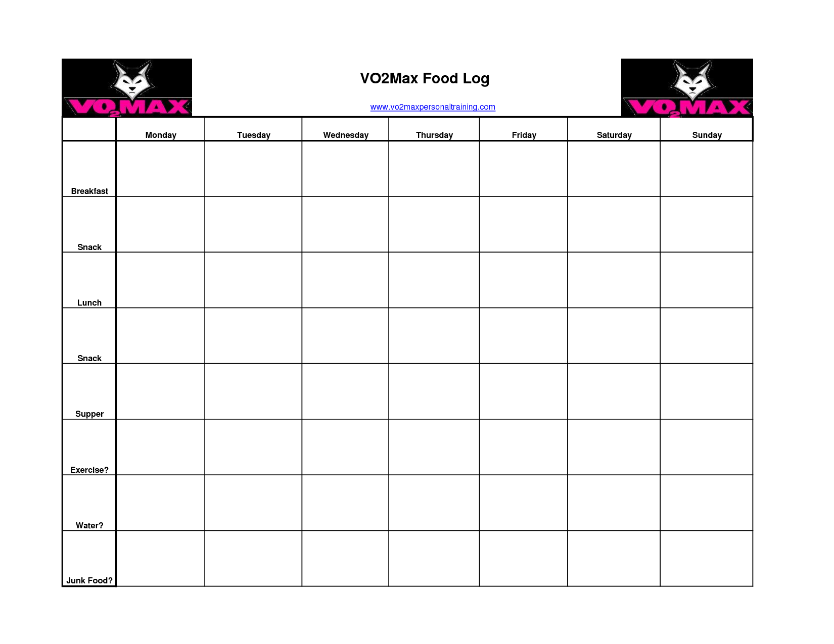 food and exercise journal template - free printable food and exercise log journal homeschool