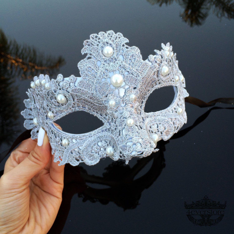 Masquerade Mask, Masquerade Ball Masks, Silver Lace Mask, Venetian ...
