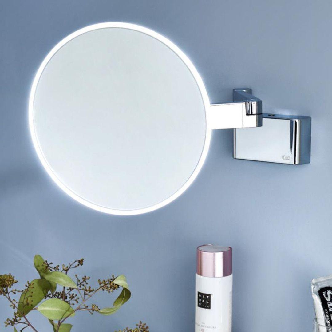 Emco Evo Led Rasier Und Kosmetikspiegel Mit Direktanschluss Chrom 109506030 Kosmetikspiegel Mit Beleuchtung Kosmetikspiegel Led