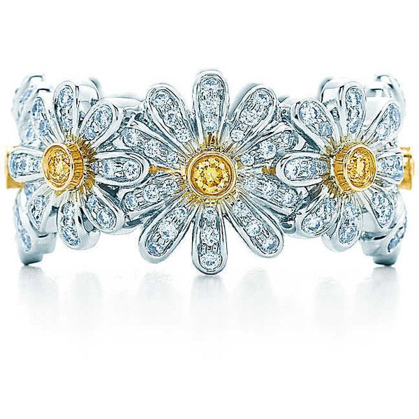 984780383 Schlumberger Daisy Ring ($16,400) ❤ liked on Polyvore featuring jewelry,  rings, daisy jewelry and daisy ring