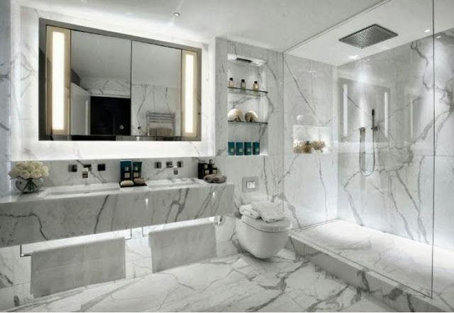 Marmurowa łazienka łazienka Dekoracja łazienki