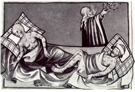 1348 The Black Death kills 30-50% of the population in Europe.