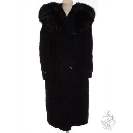 Vintage Vintage Smart Coat Black With A Button Front | Beyond Retro