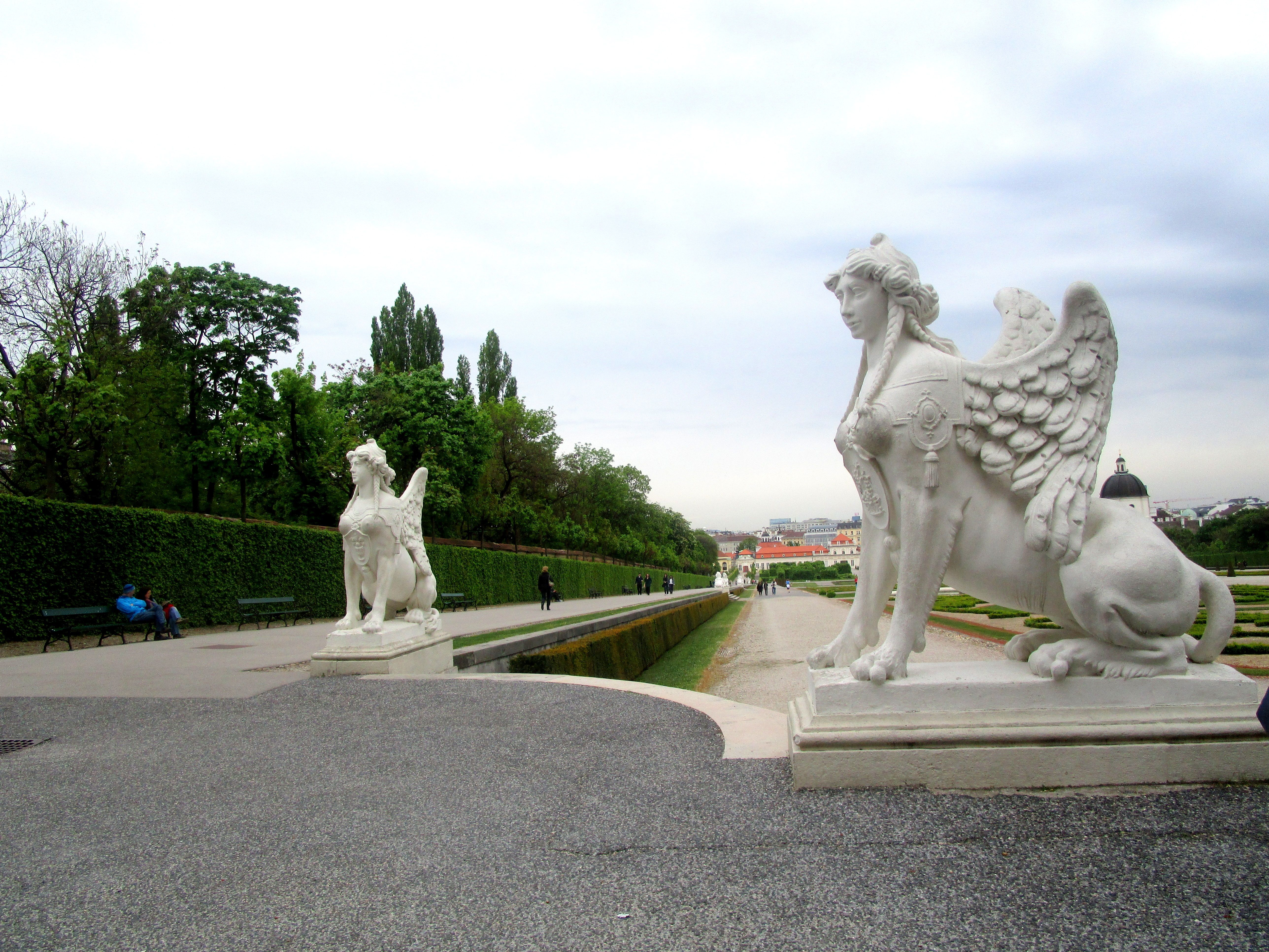 Two Statues Of Female Sphinx   Belvedere Gardens   Vienna