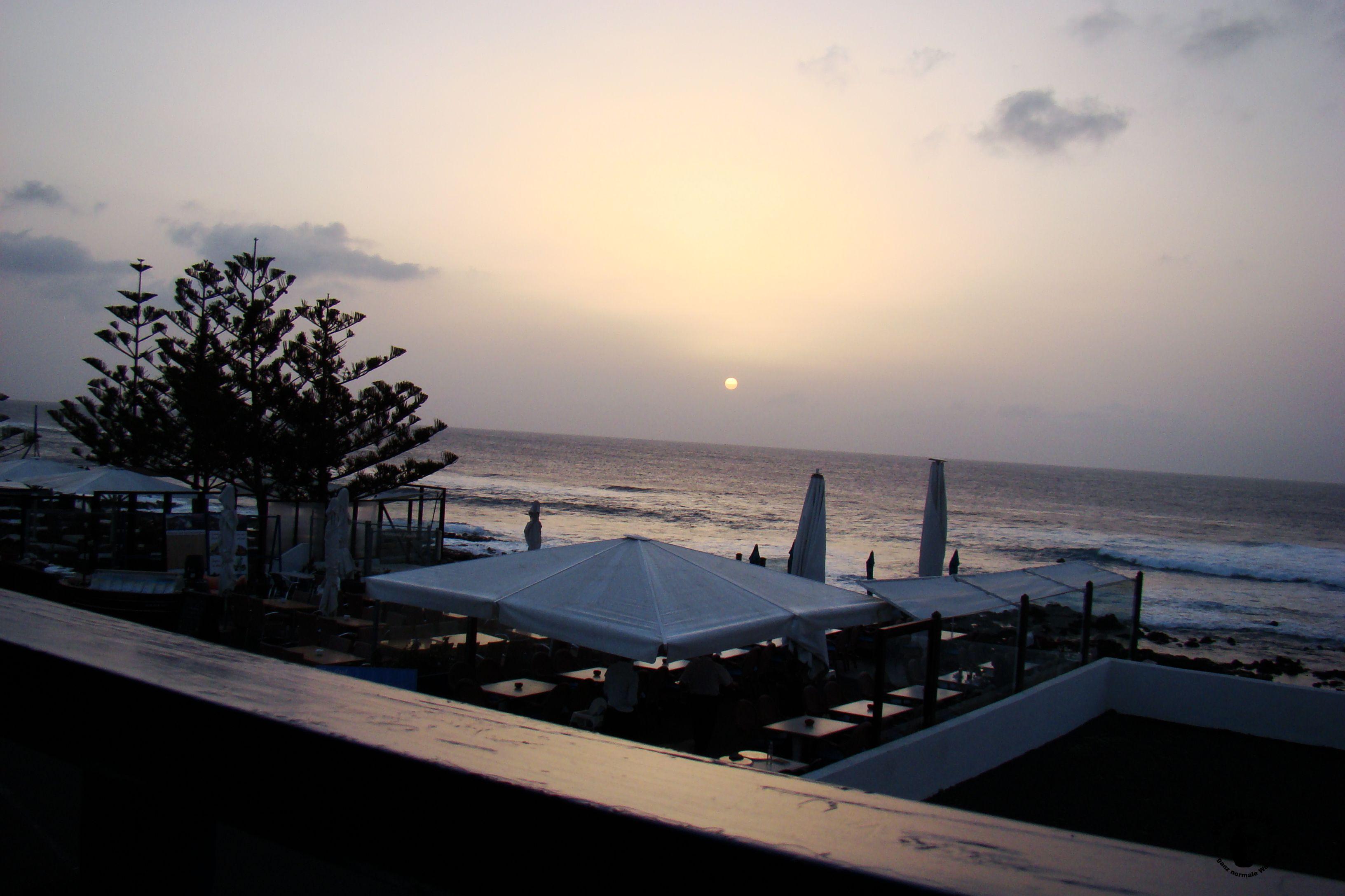 Lanzarote - Ausblick auf dem Restaurant Mar Azul heraus