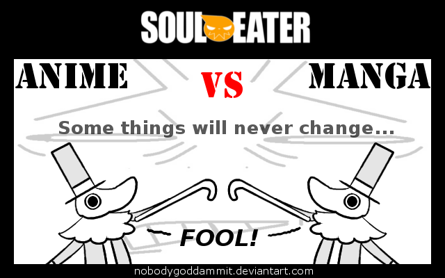 Soul Eater Anime Vs Manga Excalibur By Nobodygoddammit On