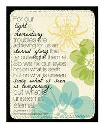 2 Cor. 4: 17-18