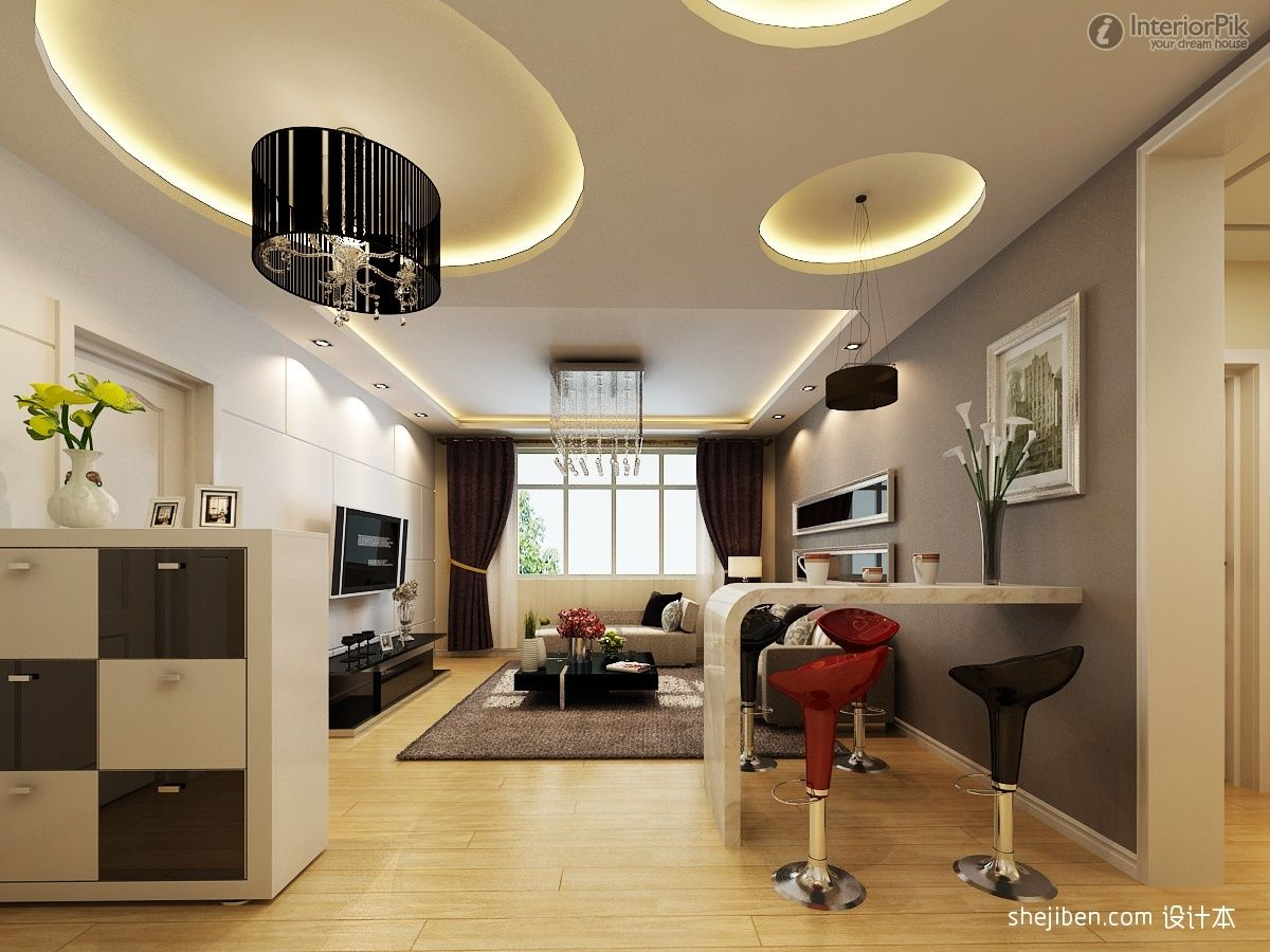 Modern living room with high ceiling interior decorating for Modern living room high ceiling