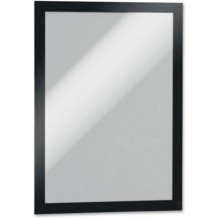 Durable Duraframe Sign Holder, 9 1/2 x 12 3/10, Black Frame, 2 per ...
