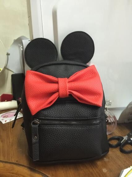 6dd674ced6d Disney Minnie Mickey Mouse Ears Bow Mini Backpack Bag- Available In 12  Color Combinations