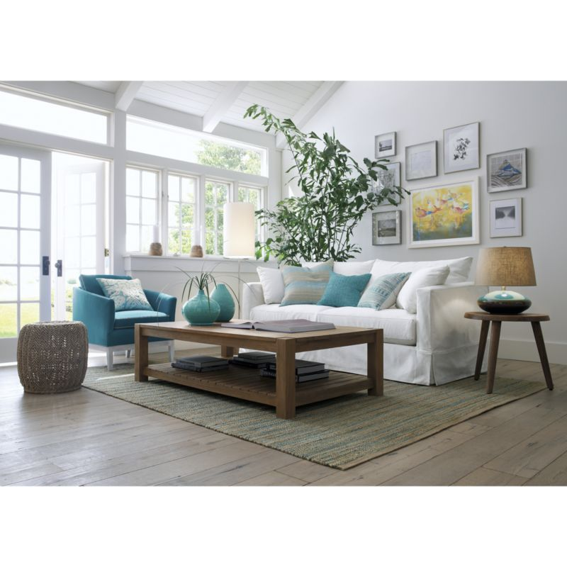 Exceptional Edgewood Rectangular Coffee Table | Crate And Barrel