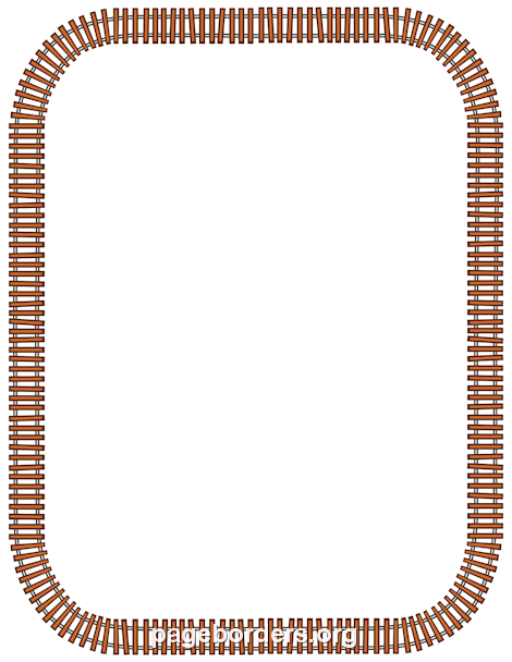 Printable Train Track Border Use The In Microsoft Word Or Other Programs For Creating