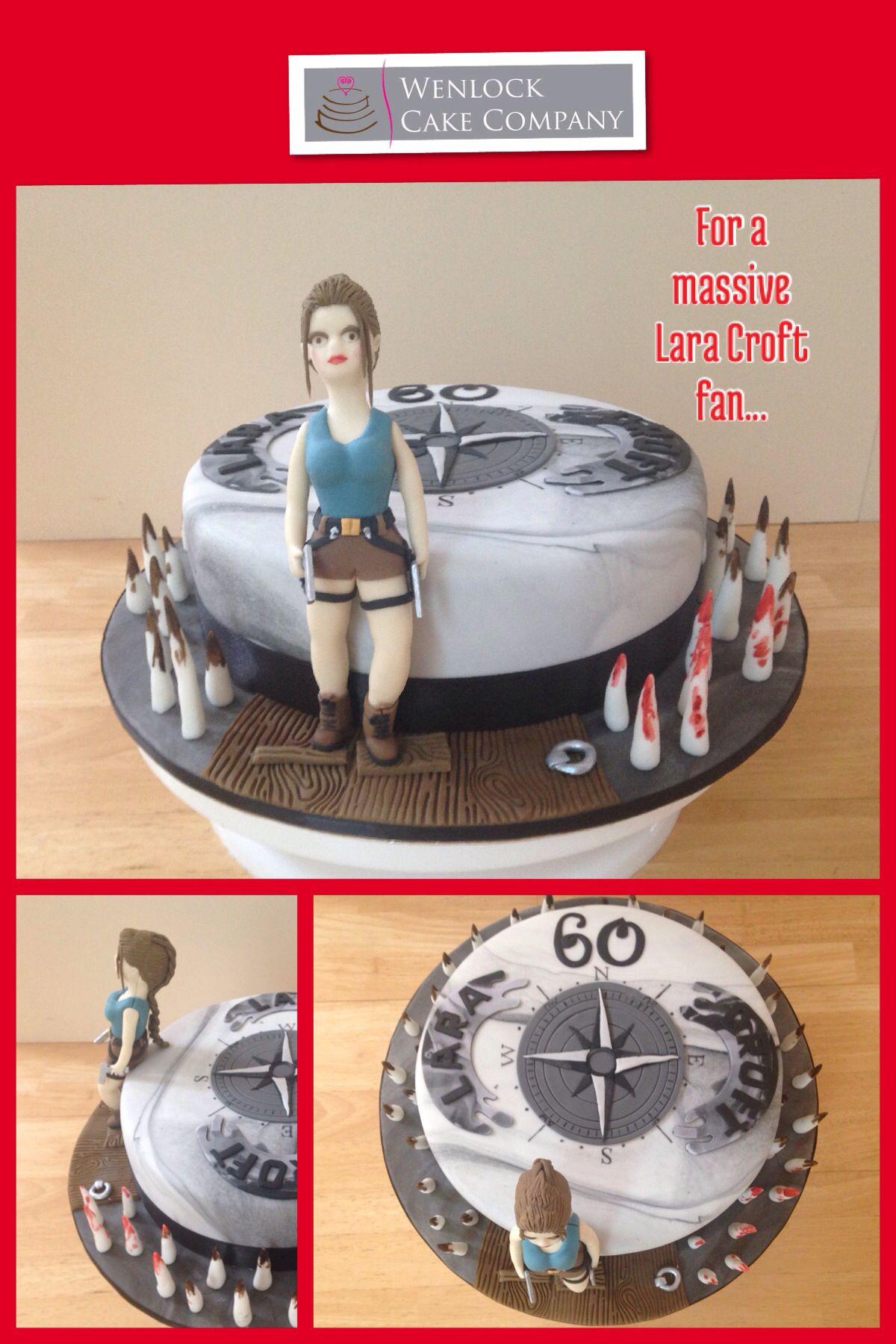 Lara Croft Tomb Raider 60th Birthday Cake