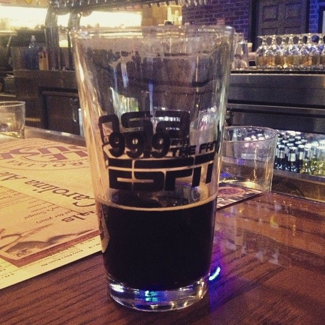 Checking Out The New Carolina Ale House On Glenwood With A Bigbossbrewing Aces And 8 Coffee Stout Made With Raleigh S Winter Coffee Craft Beer Beer Glasses