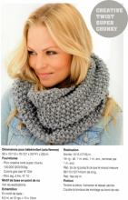 kit tricot echarpe twister