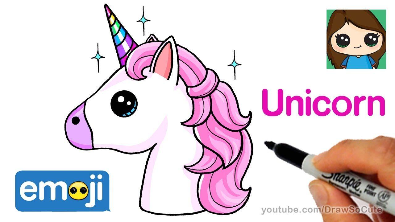 How To Draw A Unicorn Emoji Easy DRAW SO CUTE Pinterest Emoji Unicorns And Drawings