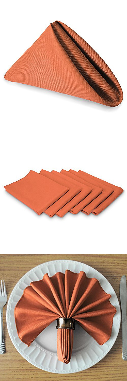 Marvelous TableLinensforLess.com Cloth Napkin (Coral)